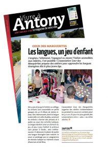 Le magasine vivre à Antony parle de l'association Cour des marguerites