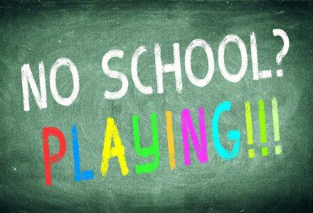 no school playing!