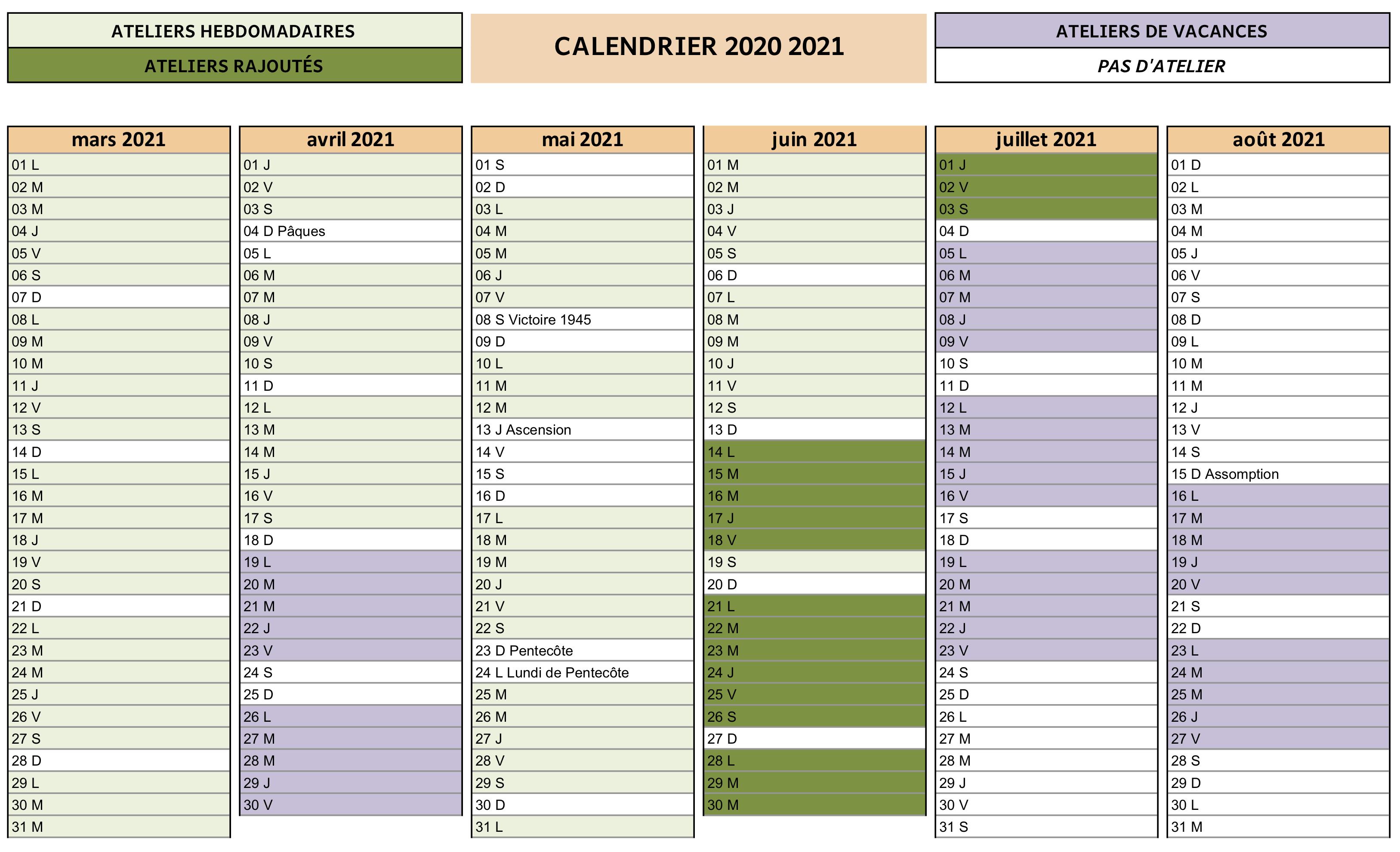 Calendrier Cdm 2021 CdM calendrier 20120 2021 comptage   Cour des marguerites