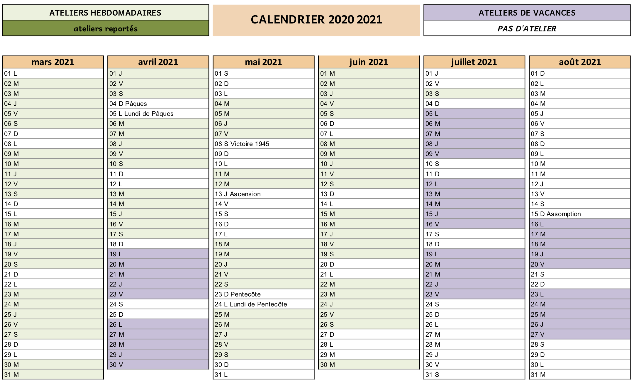 Calendrier Cdm 2021 CdM calendrier 20120 2021 visio 2   Cour des marguerites